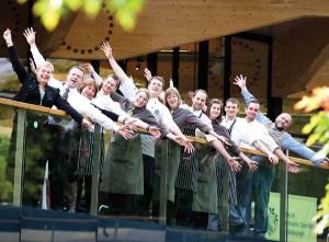 Happy employees at the Botanics in Edinburgh
