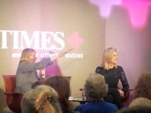 Sunday Times associate editor, Camilla Cavendish with Arianna Huffington